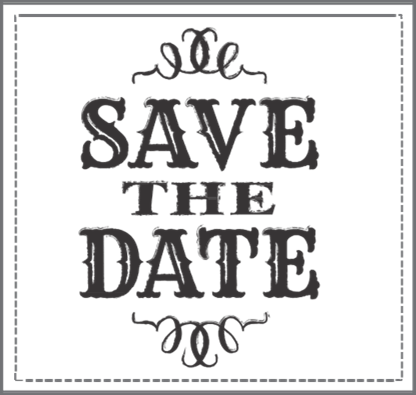 Holiday Save The Date Clipart.