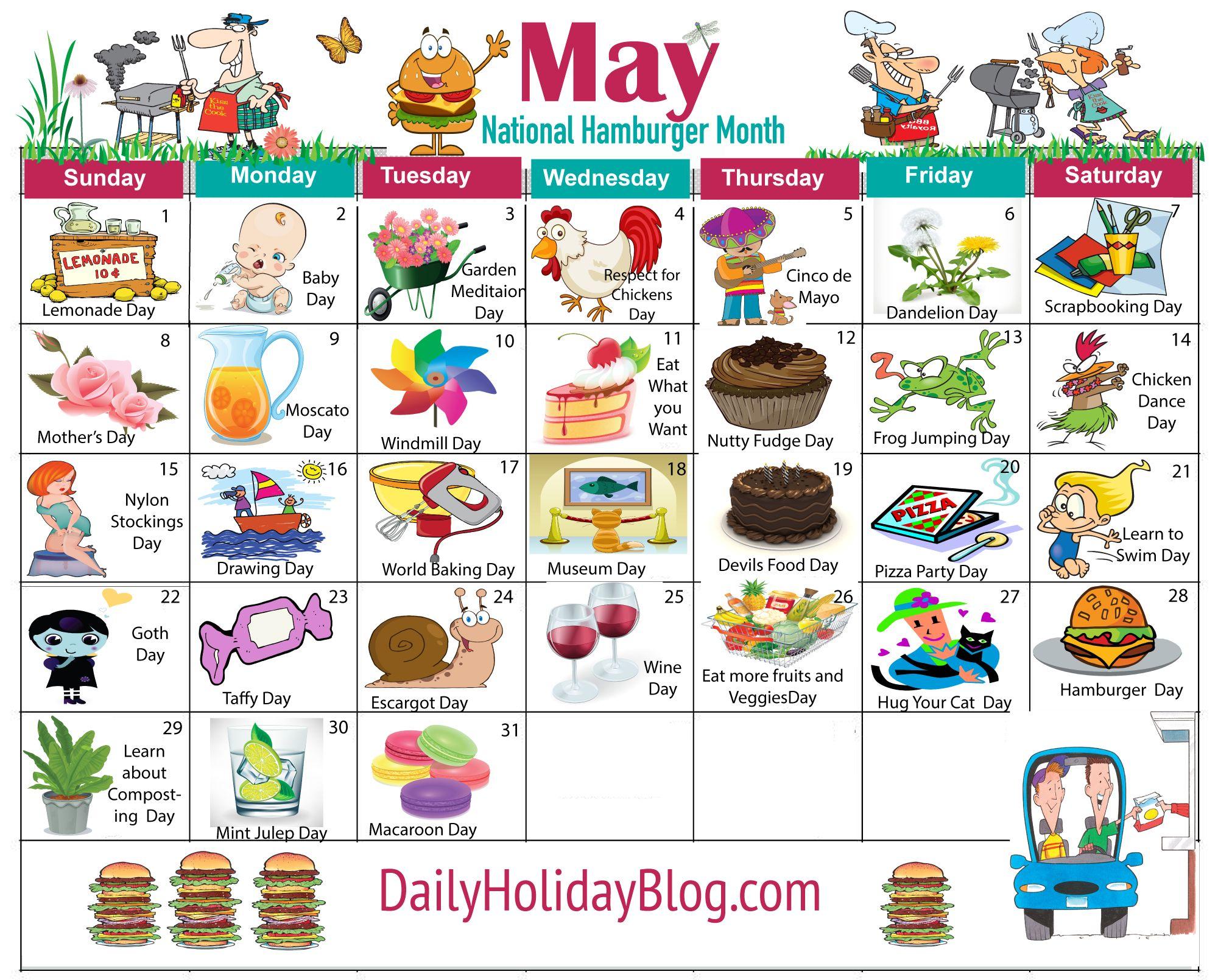 may holiday calendar.