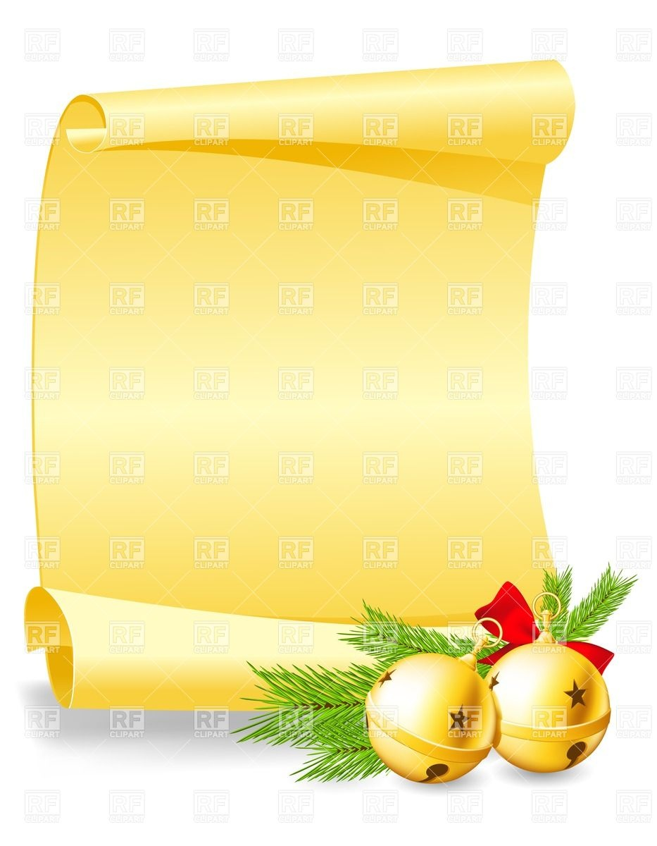 2141 Scroll free clipart.