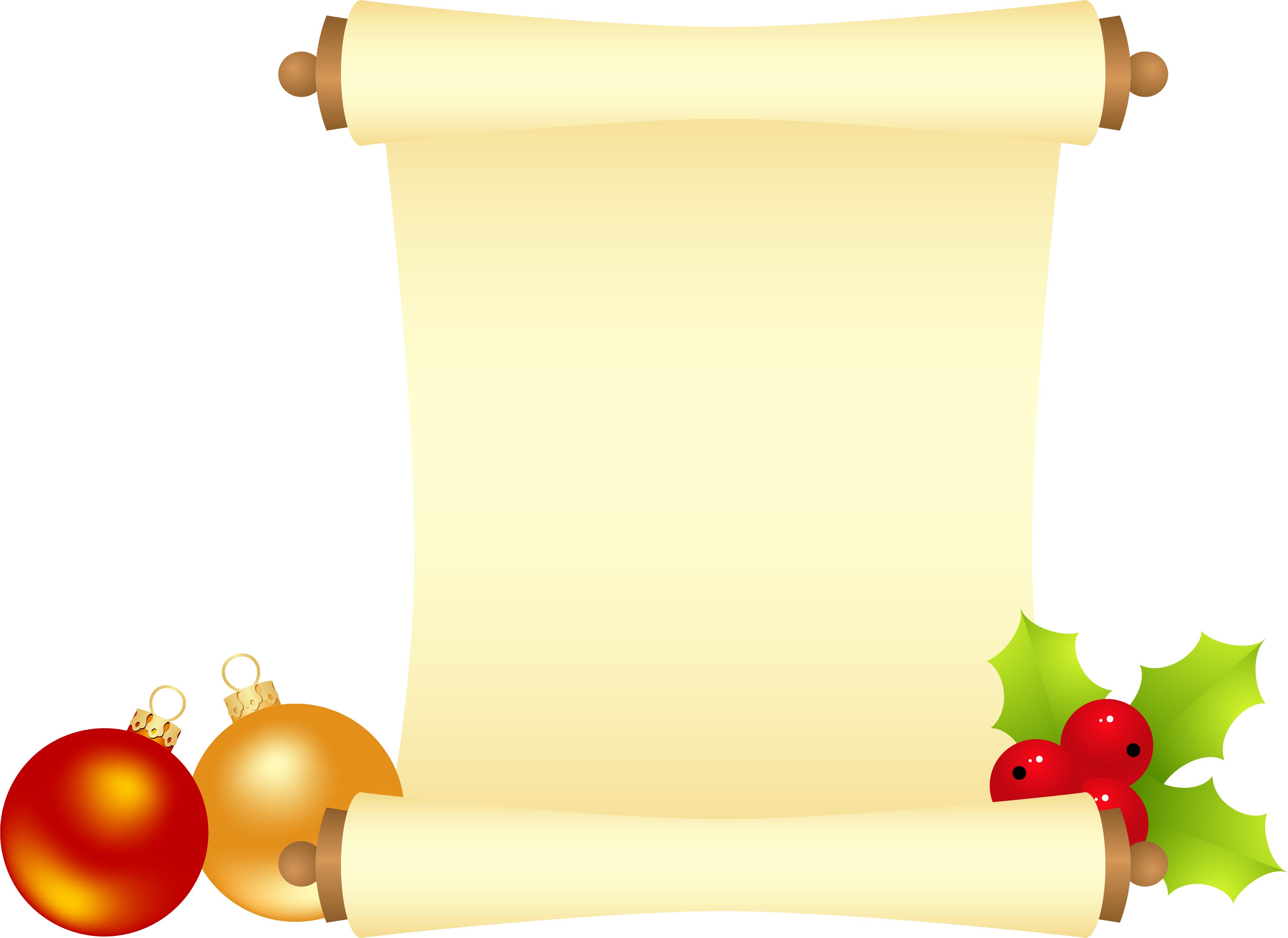 Christmas Scroll Clipart.