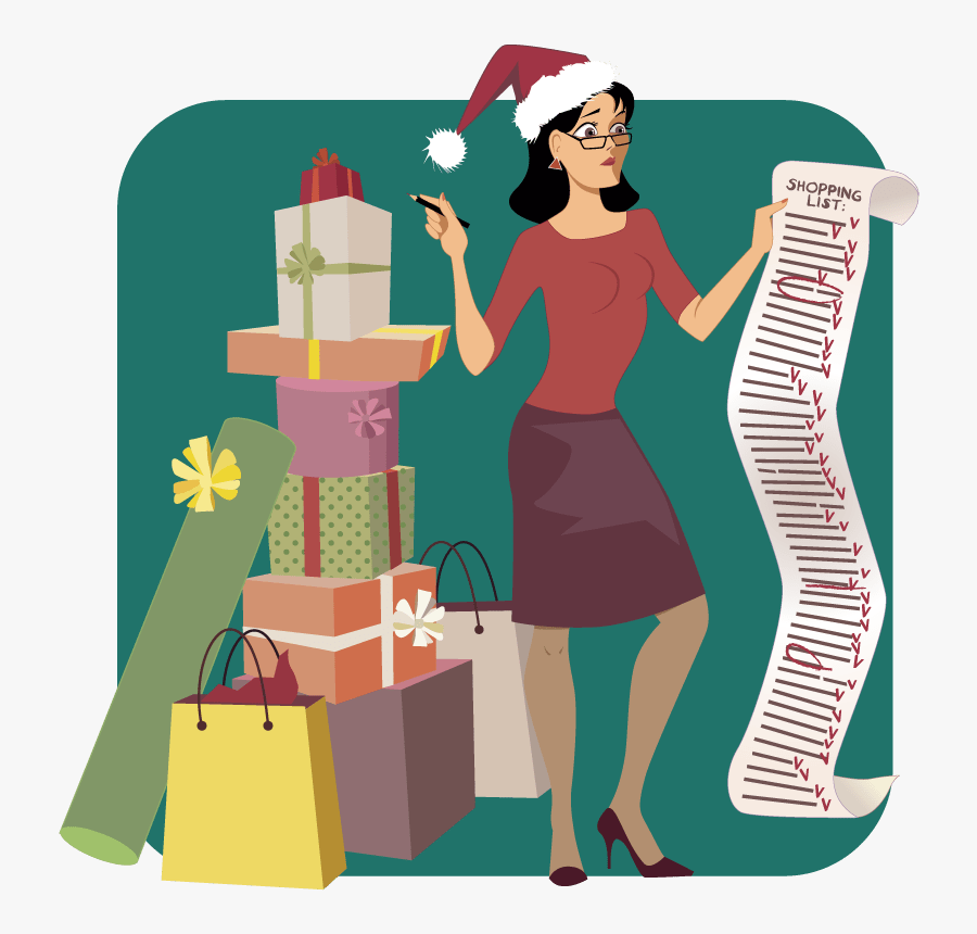 Holiday Shopping List Cartoon , Free Transparent Clipart.