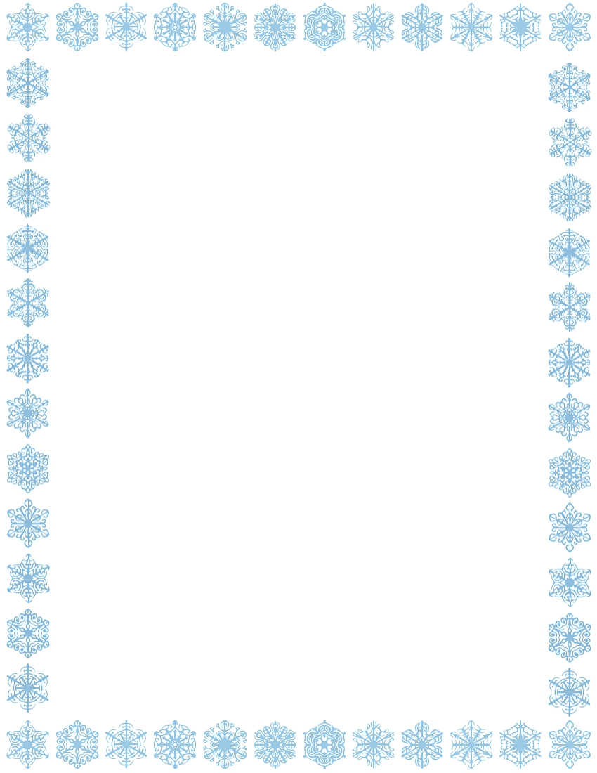 holiday snowflake border clipart free #19