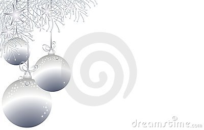 Christmas Ornaments Border 3 Royalty Free Stock Image.