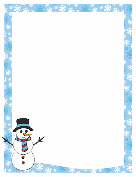 This free, festive, printable Christmas border is decorated with.