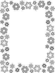 Blue snowflake border paper. Free downloads at http://pageborders.