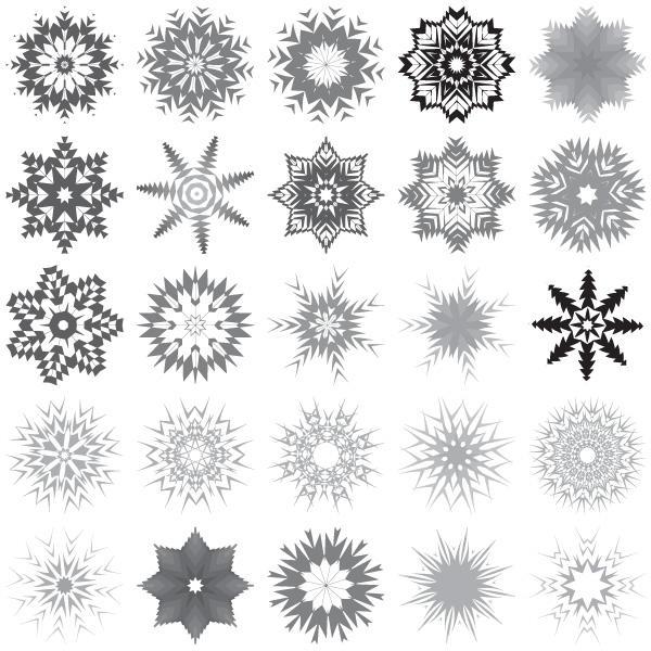 Snowflake free clipart.