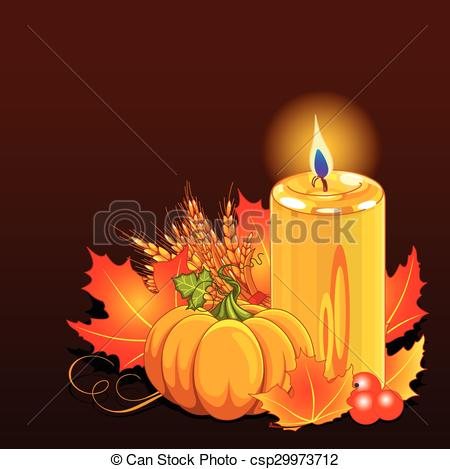 Vector Clip Art of Thanksgiving Day Still Life.