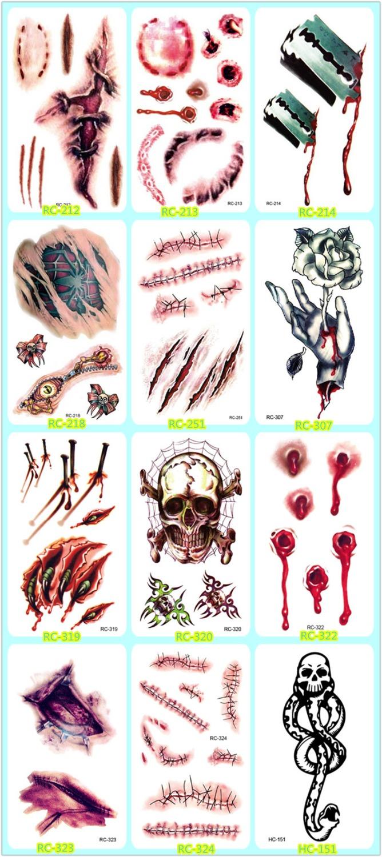 Online Shop Halloween Holiday Tattoo Sticker.