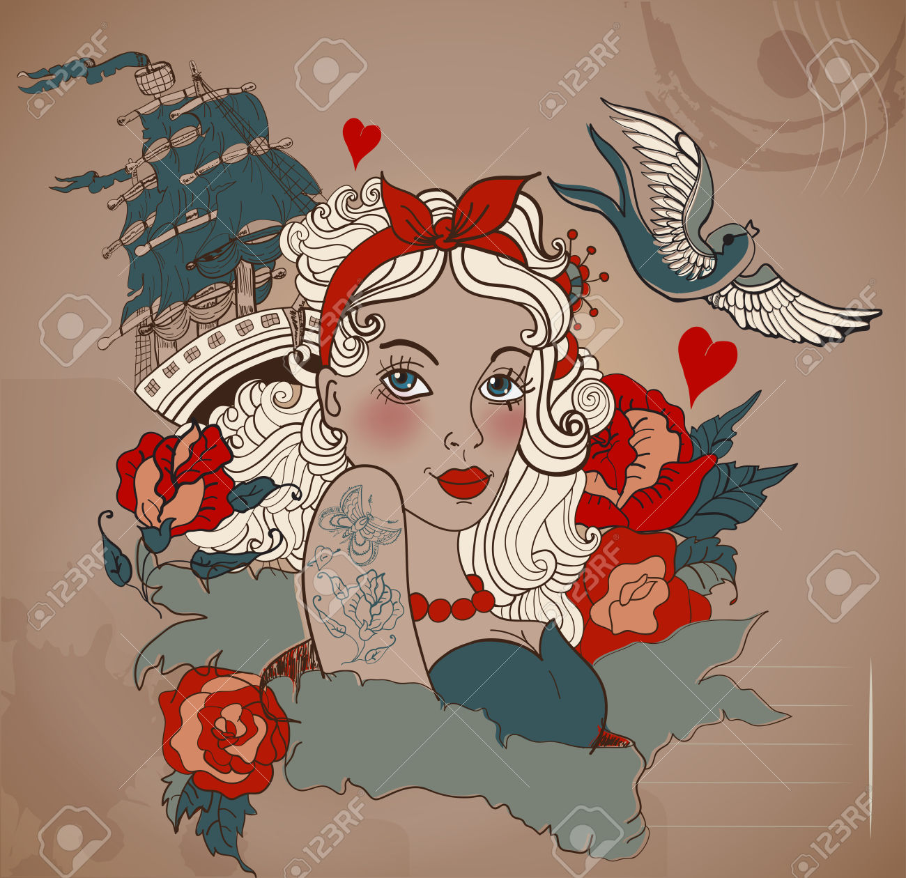 10,214 Tattoo Woman Cliparts, Stock Vector And Royalty Free Tattoo.