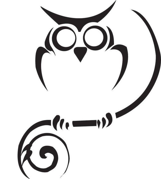 tribal owl tattoo.