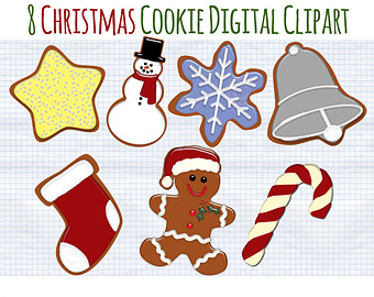 Christmas Clip Art Holiday Village Clipart by DigiBonBons.