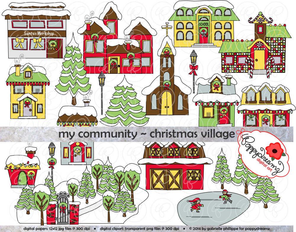 christmas village clipart my community christmas village clipart.