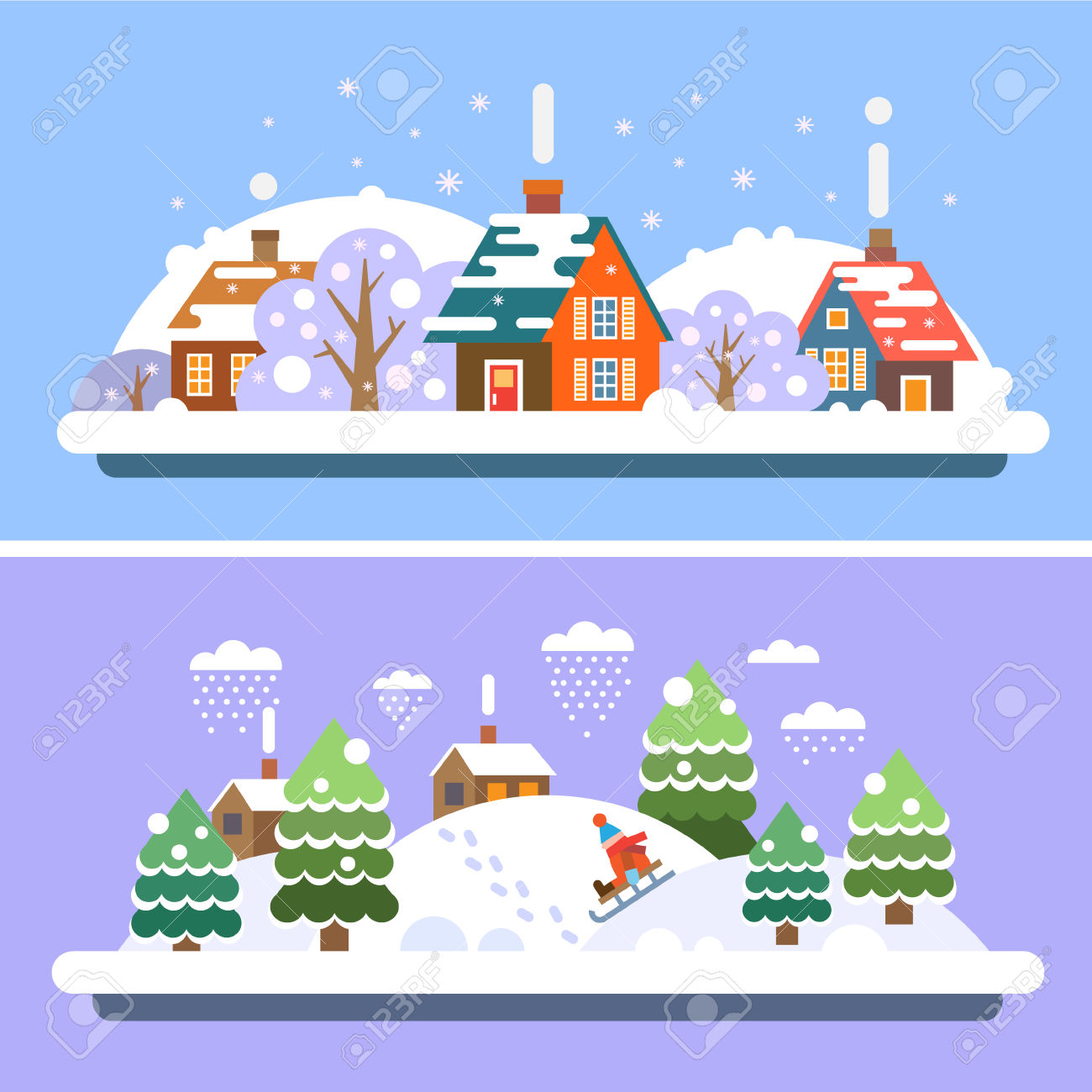 Holiday village clipart clipground