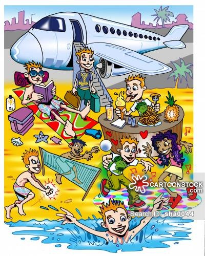 Holiday Makers Cartoons and Comics.