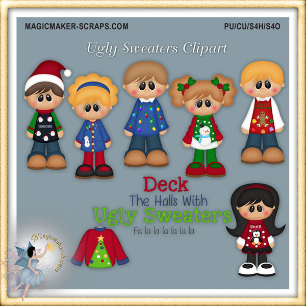 Sweater Christmas Star Clipart.