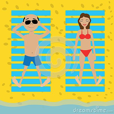 Holidaymakers Stock Illustrations.