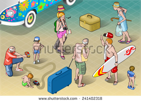 Holidaymakers Stock Vectors & Vector Clip Art.