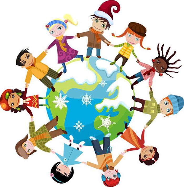 Winter Holidays Around The World Clipart.
