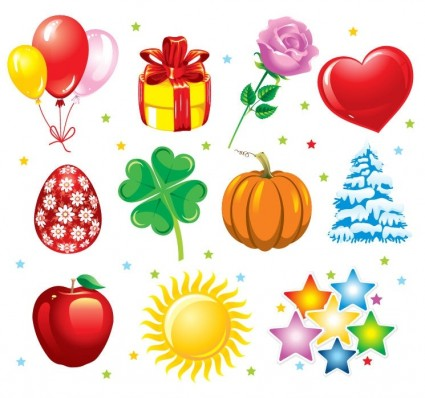 Happy holidays clipart graphic.