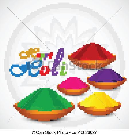 Vektor Illustration von Gulal, Holi, Pulver, bunte, feier, Karte.