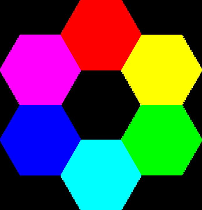 Free vector graphic: Colors, Hexagon, Symmetry.