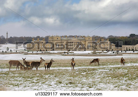 Picture of England, Norfolk, Holkham. Holkham Hall and estate.