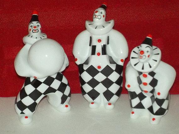 Hollohaza Hungary Porcelain Clown by ItsJunique on Etsy.