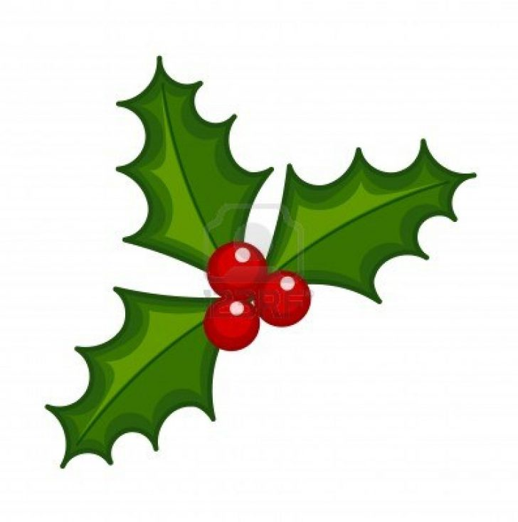 Holly Leaves Clipart.