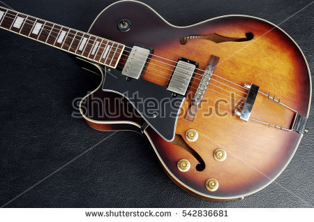 Hollow Body Guitar Stock Images, Royalty.