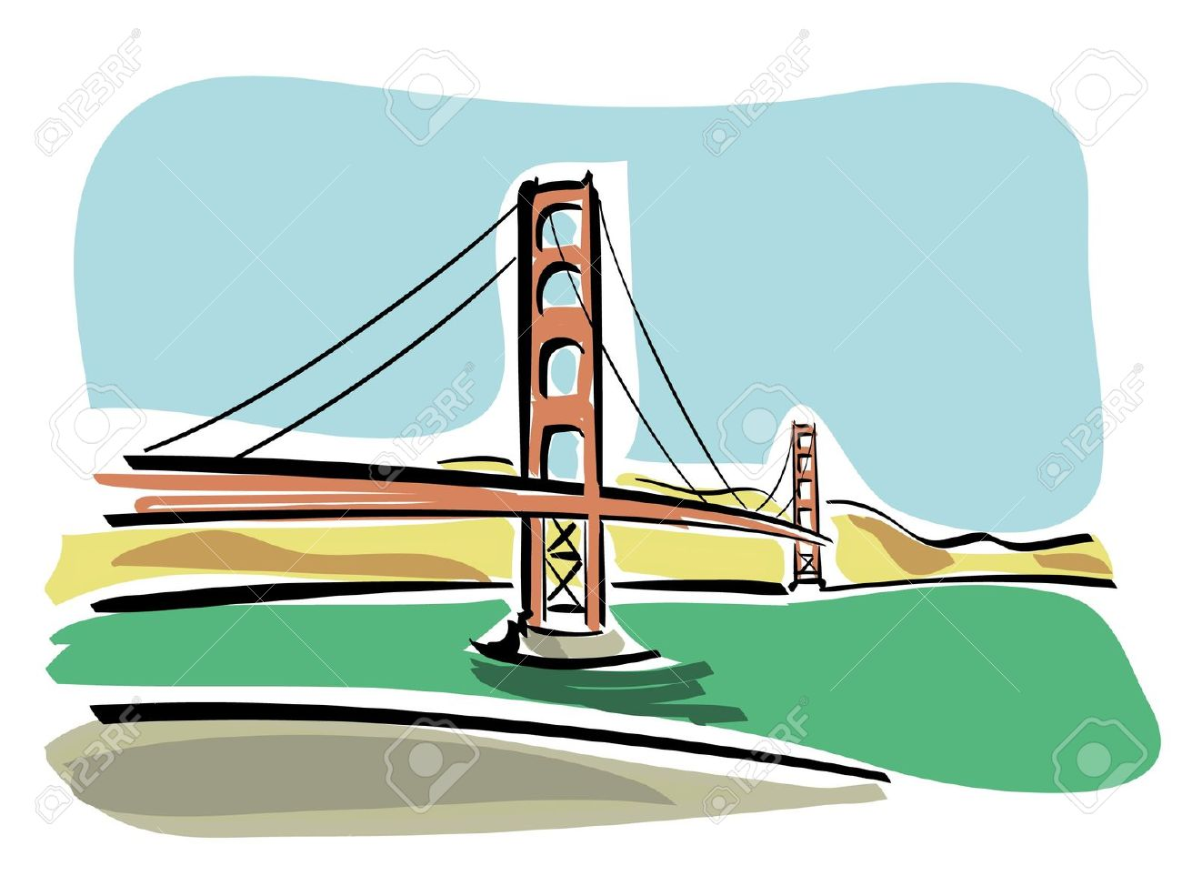 San Francisco Golden Gate Royalty Free Cliparts, Vectors, And.