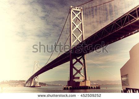 Ravenel Bridge Silhouette Cablestay Bridge Outlined Stock Photo.