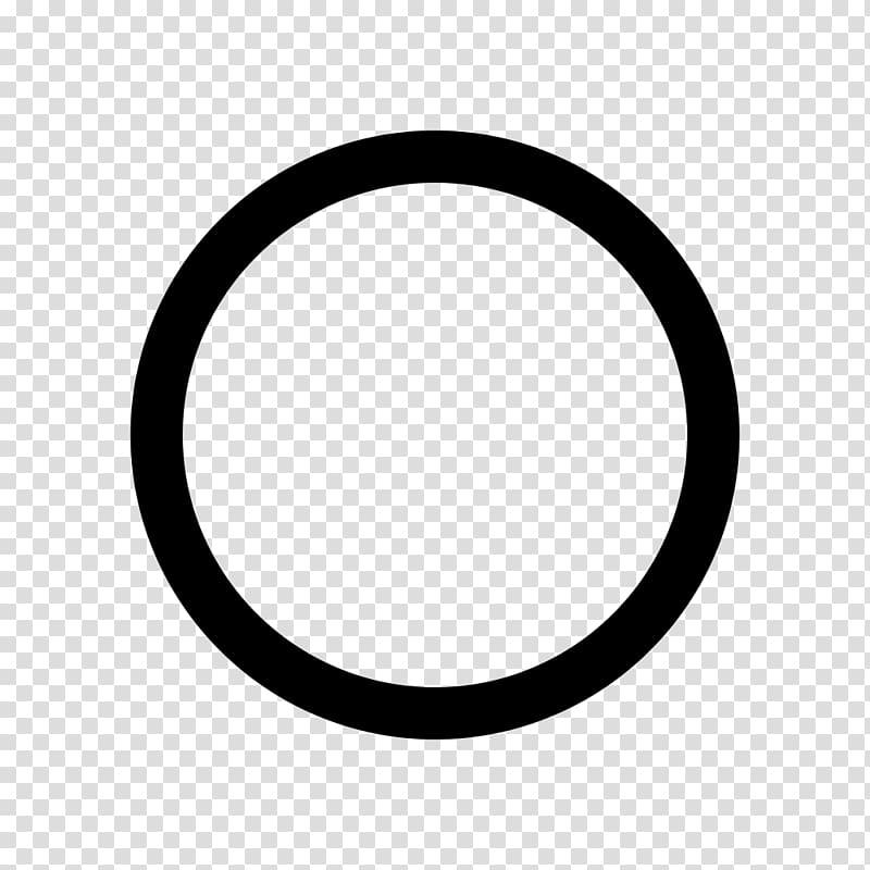 Black Circle Sign Symbol, hollow circle transparent.