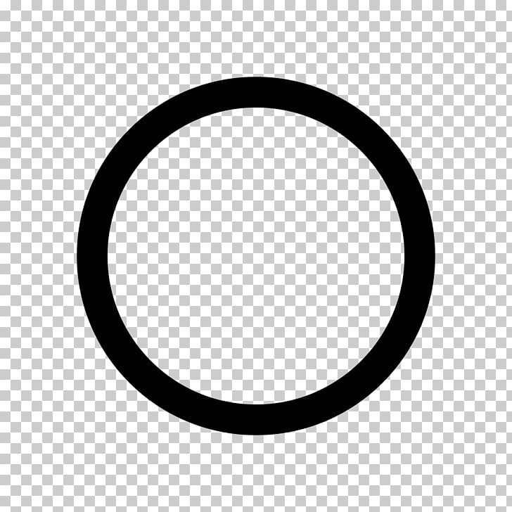 Black Circle Sign Symbol, hollow circle PNG clipart.