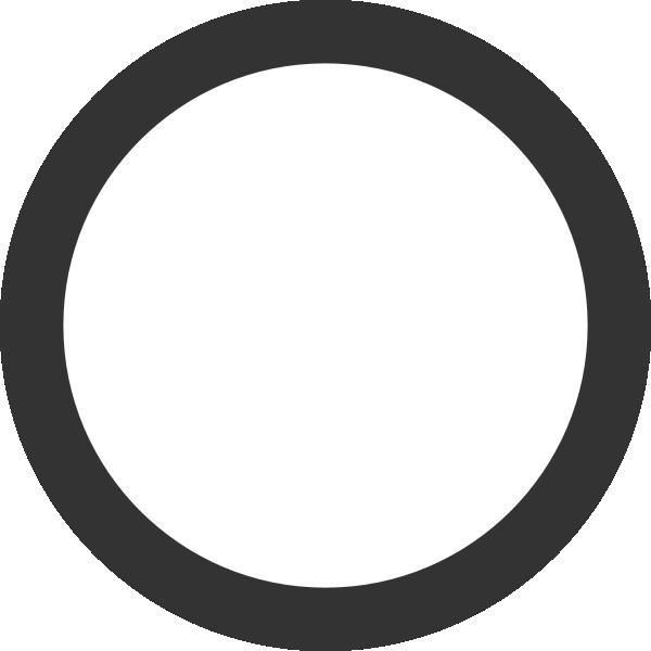 Empty Dark Grey Ring Clip Art at Clker.com.