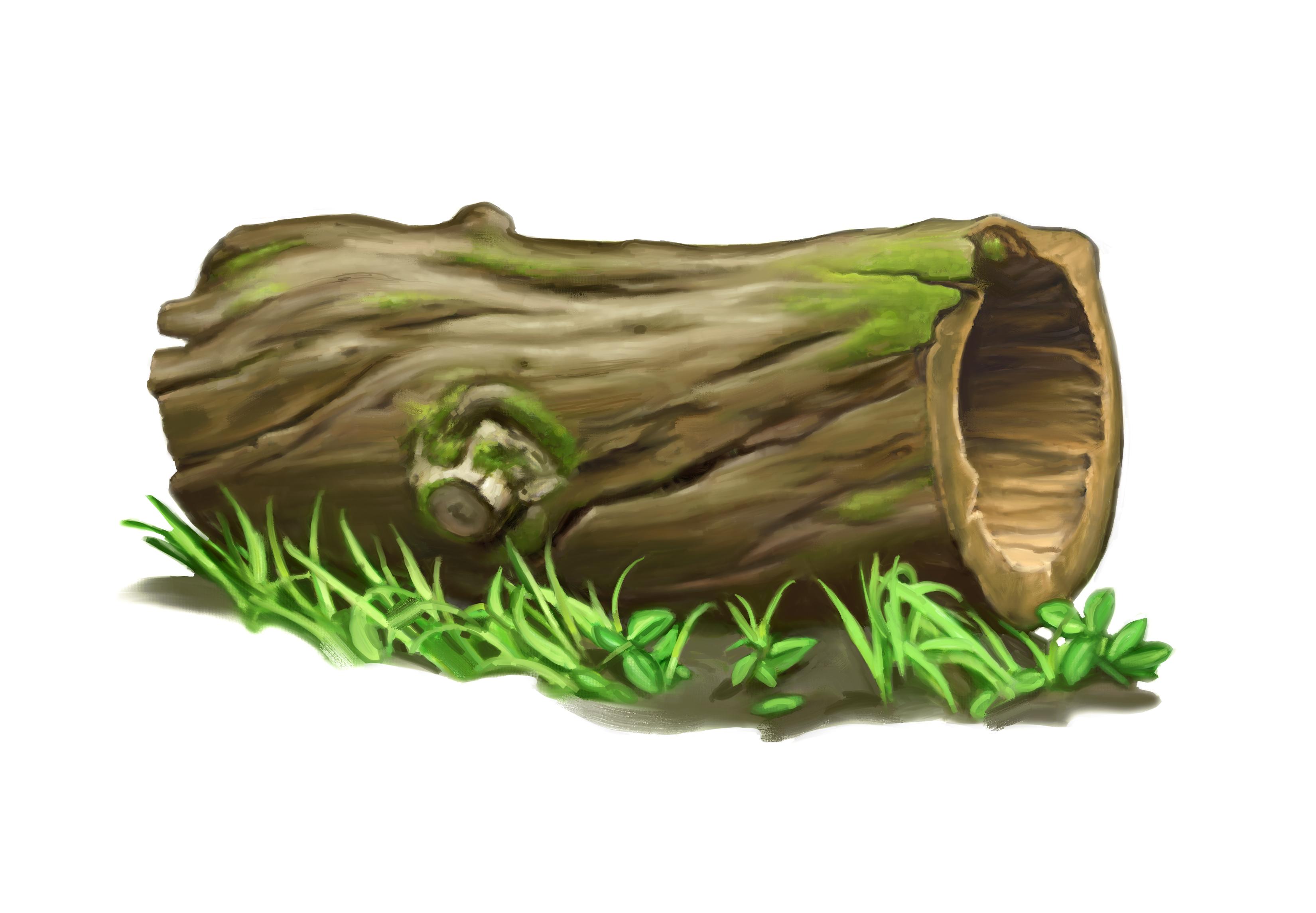Hollow log clipart.