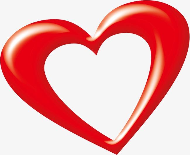 hollow heart clipart #7