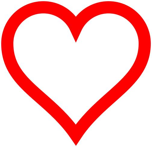 Hollow Heart Clipart.