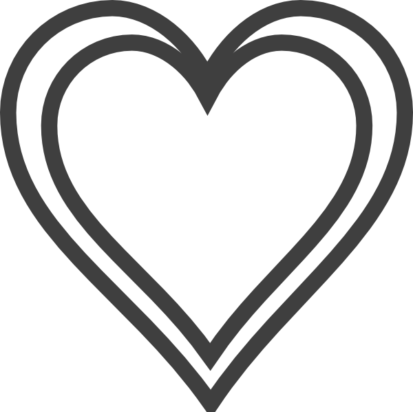 Hollow heart clipart 4 » Clipart Station.