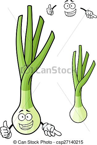 Vector Clip Art of Funny spring onion vegetable cartoon character.