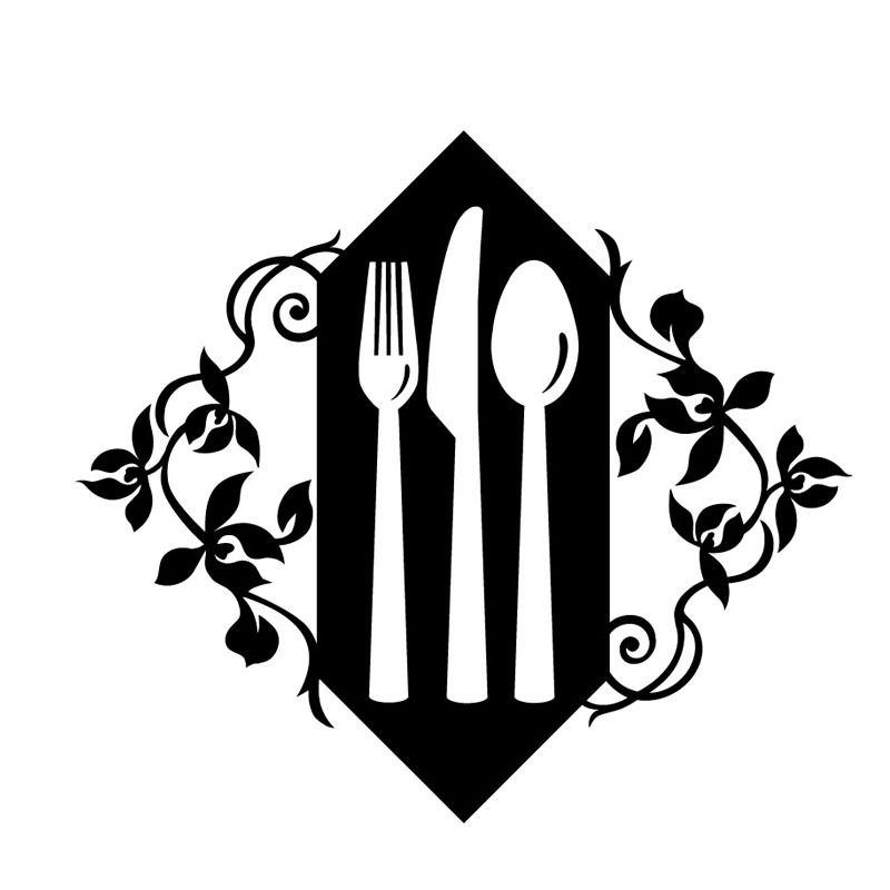 Flower Pattern Hollow Out A Set Of Fork Knife And Spoon Dining.