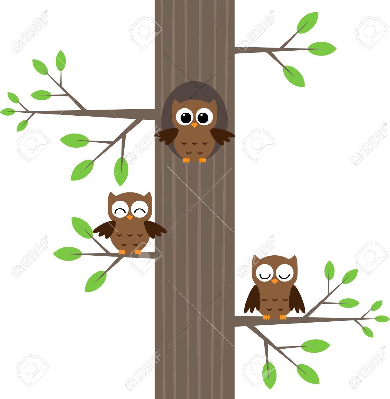 Owl tree stump clipart.