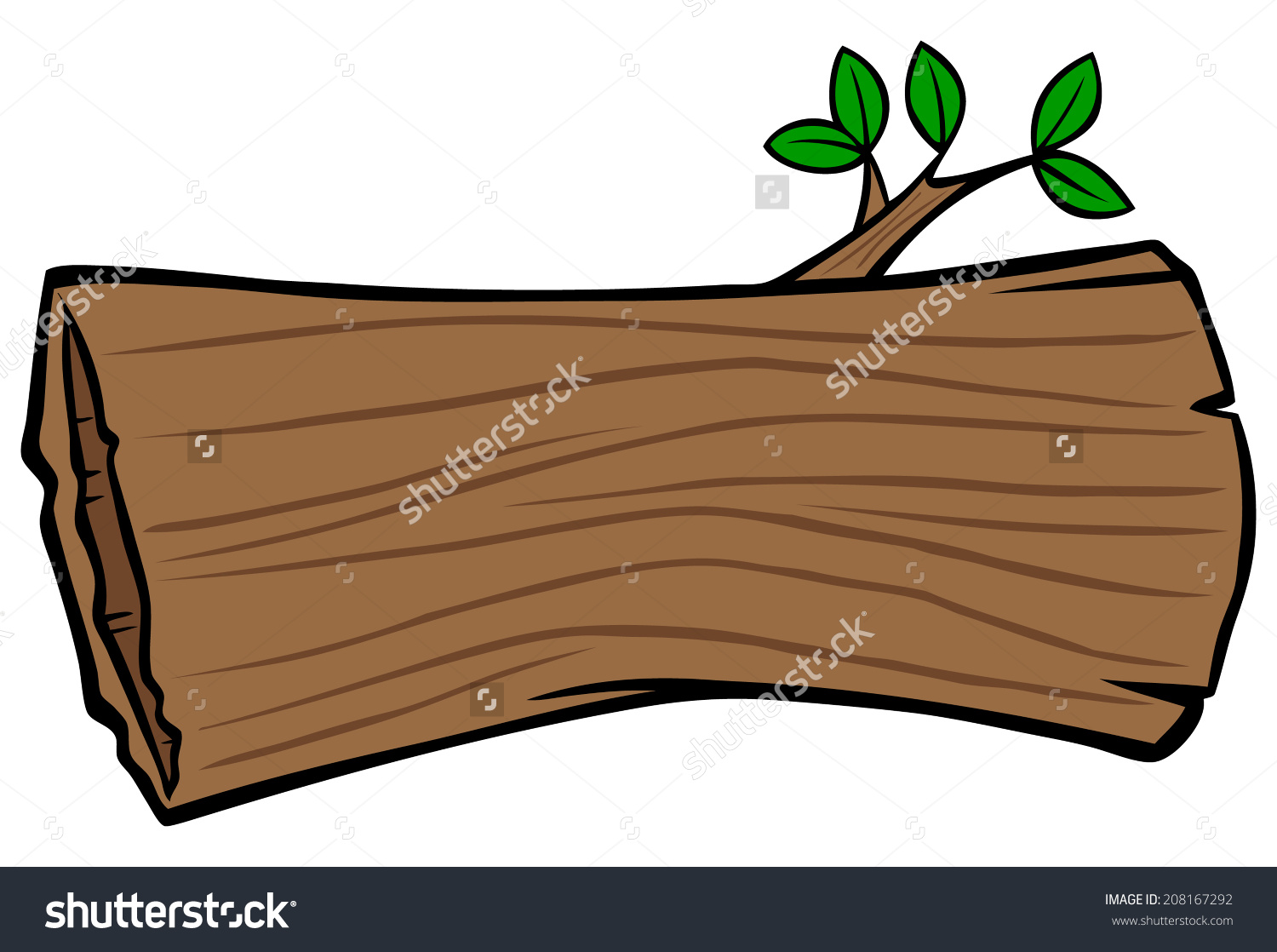 Hollow Tree Trunk Stock Vector 208167292.