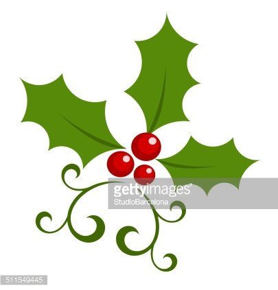 Holly berry icon Clipart Image.
