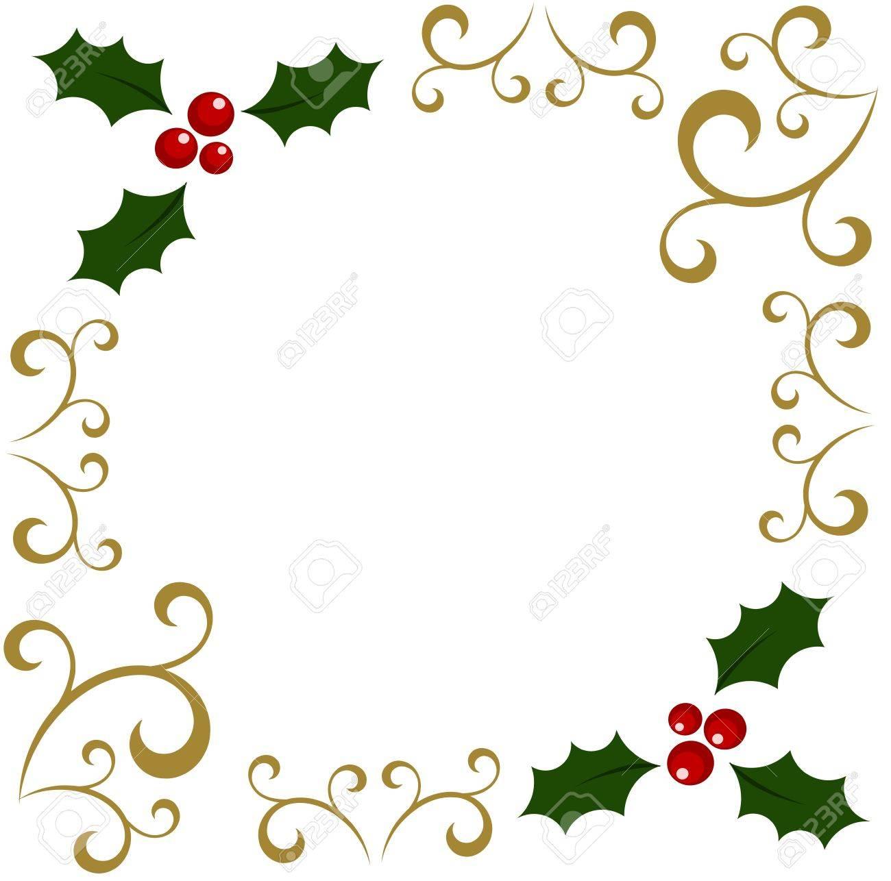 Christmas holly berry frame..