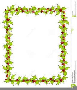 Holly Berry Borders Clipart.