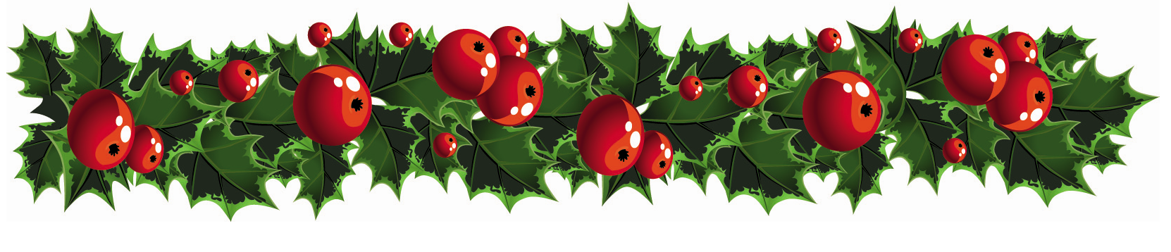 Holly berry large border clip art.
