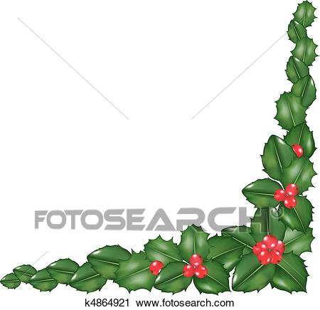Garland From Holly Berry Clipart.
