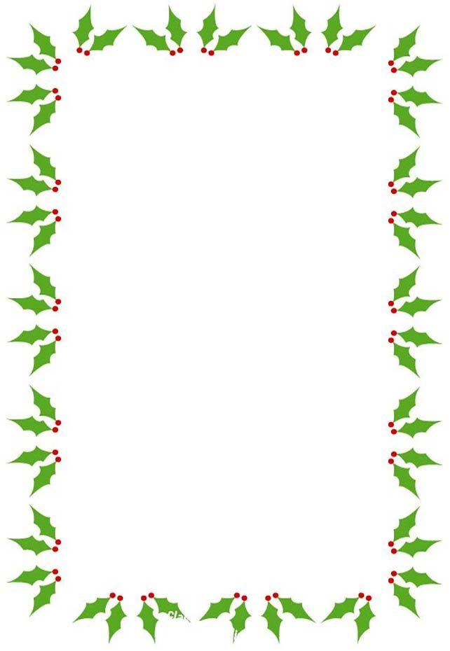 Christmas holly border clipart 4 » Clipart Portal.