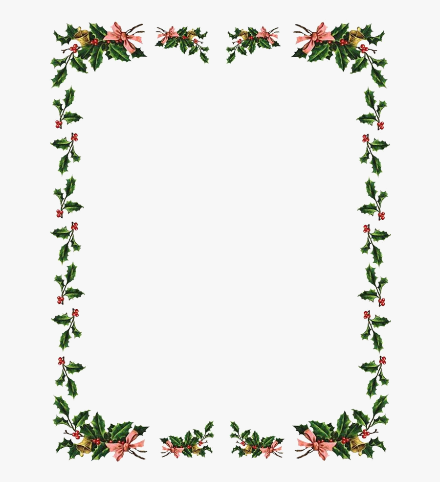 Christmas Border Flowers Borders Clipart X Transparent.