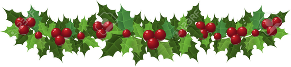 Holly Garland Clipart.